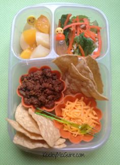 Lunch Made Easy: Leftover Tacos = Nachos for School Lunches  @EasyLunchboxes