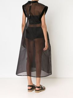 Melitta Baumeister прозрачное платье свободного кроя