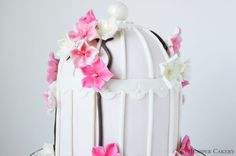 Cherry Blossom Entwined Birdcage Cake by Juniper Cakery