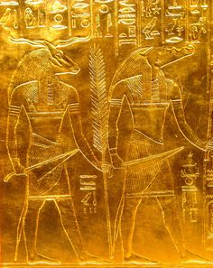 Golden reliefs from Tutankhamun´s tomb by The Adventurous Eye, via Flickr
