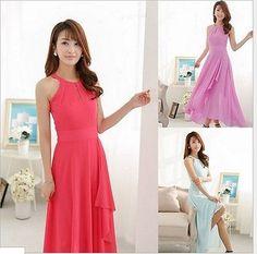 Hot Women Chiffon Cocktail Party Evening Casual Long Maxi Dress | eBay