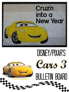 Cars 3 Bulletin Board – Cruz'n into a New Year  Clementine County