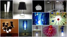 Recopilación de más de 20 lámparas DIY realizadas con material reciclado