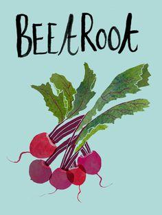 veg, beetroot, illustration, lettering, colour, type, vegetables, gardening, allotment, typography