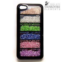 New Fashion Multicolor Swarovski Elements Crystal iPhone 5 Cover Case-Black - FixShippingFee- - TopBuy.com.au