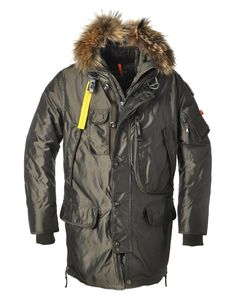 Parajumpers Kodiak Hooded Parka Men Olive $376.00