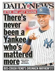 Number #2 for the Yankees, Number #1 for all his fans in the World, and that's a Fact!!~!