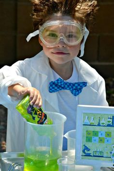 Mad Scientist: Ready for his latest experiment — and one explosive birthday bash!  Source: Crissy's Crafts