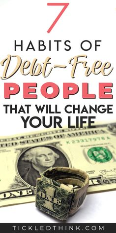 7 Habits of Debt-Free People that will Change your Life - Tickled Think Financial Peace, Financial Tips, Money Saving Challenge, Money Saving Tips, Time Management Techniques, Debt Free Living, Get Out Of Debt, Managing Your Money, Frugal Living Tips