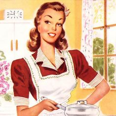 Shop Vintage Retro Women Kitsch Kitchen Magic Postcard created by superiorwomen. Personalize it with photos & text or purchase as is! 1950s Housewife, Vintage Housewife, Images Vintage, Vintage Ladies, Retro Vintage, Retro Images, Vintage Food, Vintage Ephemera, Vintage Stuff