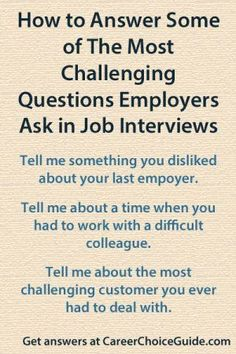 The most difficult interview questions employers ask