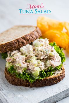 Easy and best tuna salad recipe. This is a recipe for tuna salad from mom. Mom& tuna salad is the best for tuna fish sandwiches, healthy tuna salad recipe Tuna Fish Sandwich Recipe, Best Tuna Salad Recipe, Tuna Fish Recipes, Healthy Tuna Salad, Seafood Recipes, Cooking Recipes, Healthy Recipes, Tuna Fish Salad, Salad Sandwich