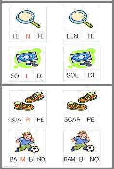 Italian Words, Italian Language, Learning Italian, Speech Therapy, Montessori, Literacy, Alphabet, Teaching, Cards