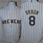 For Sale: Milwaukee Brewers Ryan Braun Retro White Kids Youth Boys Jersey Medium Majestic - See More At http://sprtz.us/BrewersEBay
