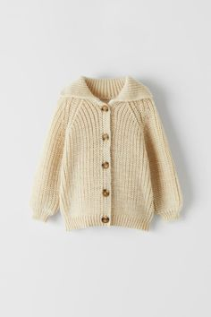OVERSIZE PURL KNIT CARDIGAN | ZARA United Kingdom Moda Zara, Cardigan En Maille, Knit Cardigan, Zara Kids, Cute Outfits For Kids, New Outfits, Chill Outfits, Baby Outfits, Turtleneck T Shirt