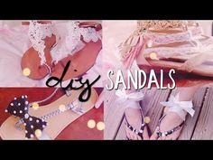 DIY Summer Sandals styles) Redecorate / Restyle your Flip Flops Flip Flops Diy, Flip Flop Craft, Bling Flip Flops, Diy Clothes Life Hacks, Diy Clothes And Shoes, Diy Summer Clothes, Crochet Braids, Boho Chic, Decorating Flip Flops