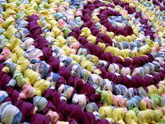 "Rag Rug Round 30""  Handmade Crochet  Nursery  Shabby Cottage  Spring Colors #Handmade"