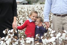 Cotton field family picture