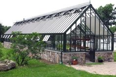 large Victorian Glasshouse, large Victorian Glasshouses - traditional - Greenhouses - Boston - Hartley Botanic Inc.