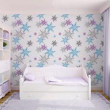 70-541 Graham and Brown Frozen Disney Elsa Snowflake Blue Pink Feature Wallpaper