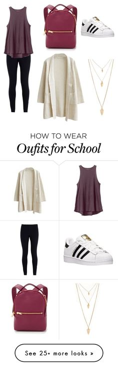 School Chic by hopecatherineharry on Polyvore featuring NIKE, RVCA, adidas, Sophie Hulme and Forever 21