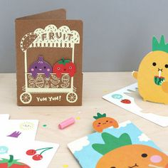A super cute stationery bundle for adults and children!  This pack of 1 notebook, 6 bookmarks and 5 fun gift tags features a host of cute fruit and veg characters all neatly housed in a lovely little kraft folder. It makes a great gift for creative and stationery obsessed kids, the fun little characters are great for games and play but are also functional and can be used as bookmarks and gift tags. It could also be a fun present for colour obsessed adults and teens, and those whole like a…