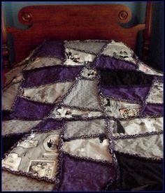 Ghastlie Halloween Crazy Quilt, Twin Bed Size | YouCanMakeThis.com