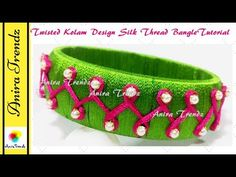 How to make double line pearl silk thread bangle Silk Thread Jhumkas, Silk Thread Bangles Design, Silk Thread Necklace, Silk Bangles, Thread Jewellery, Diy Jewellery, Bead Jewelry, Jewelry Rings, Diy Jewelry Tutorials