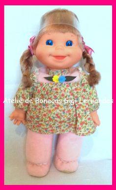 Restauração boneca Farofinha, Estrela, 1976