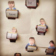 I love a bit of personalised display. Get your children to hold up a blank whiteboard and take their photo. Then you can use them for displaying letters, words, numbers... Anything! #abcdoes #display #eytalking