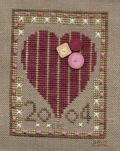 Garden Grumbles and Cross Stitch Fumbles: 2004 Collector's Heart - A Finish