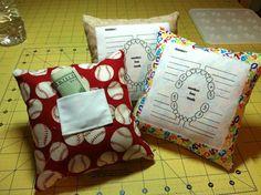 Tooth Fairy Pillows.  ADORABLE!!!