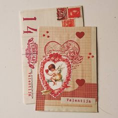 "102 gilla-markeringar, 3 kommentarer - Hilde Dorgelo-Feenstra (@hilde_df) på Instagram: ""Oh jij stiekemerd...ik dacht dat je geen valentijnspost zou versturen dit jaar... ❤️ Dank je wel…"" Heart Crafts, First Love, Craft Ideas, Cover, Instagram, Amor, First Crush, Puppy Love, Diy Ideas"