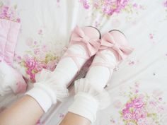 Shared by Kawaii Stuff. Find images and videos about fashion, pink and shoes on We Heart It - the app to get lost in what you love. Lolita Shoes, Lolita Dress, Sock Shoes, Cute Shoes, Baby Pink Aesthetic, Classy Closets, Japanese Street Fashion, Cute Fashion, Fashion Styles