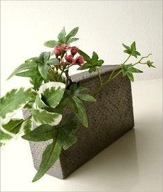 和陶器ベース(花瓶) シンプルな角(1) Bonsai, Flower Arrangements, Succulents, Planters, Yahoo, Flowers, Products, Floral Arrangements, Bonsai Trees