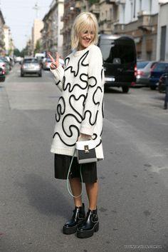 Street style на Неделе моды в Милане