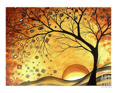 Dreaming in Gold Giclee Print by Megan Aroon Duncanson at Art.com