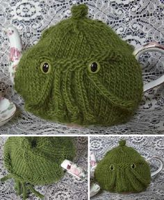 cthulhu tea cosy! There's flying spaghetti monster and other unusual cosies on the page.