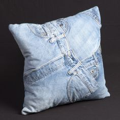 Denim Cotton Throw Pillow