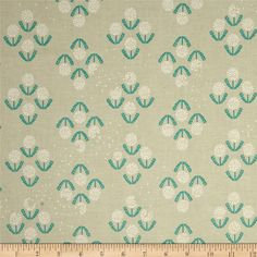 Cotton & Steel Zephyr Puff Teal from @fabricdotcom  Designed by Rashida Coleman-Hale for Cotton + Steel, this cotton print fabric is perfect for quilting, apparel and home decor accents. Colors include tan and teal blue.