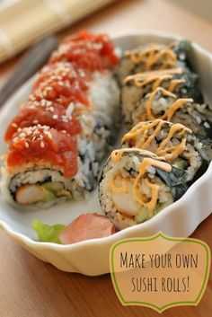 panko shrimp roll, spicy ahi roll, and spicy mayo sauce recipe: make your own sushi!