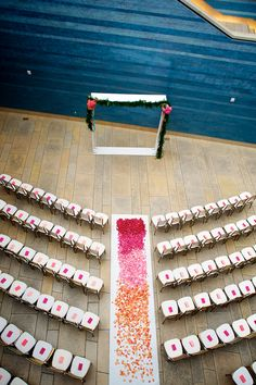 Try to look at this ceremony setting and not smile...| Austin Wedding at The Blanton Art Museum from Ashley Garmon Photographers  Read more - http://www.stylemepretty.com/texas-weddings/2013/09/04/austin-wedding-at-the-blanton-art-museum-from-ashley-garmon-photograpers/