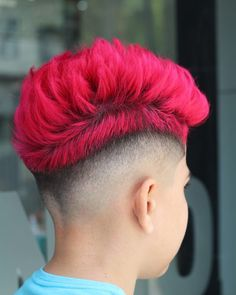 48 Awesome Hair Color Ideas for Men in 2018 - Men's Hairstyles Baddie Hairstyles, Undercut Hairstyles, Boy Hairstyles, Men's Haircuts, Mens Hair Colour, Cool Hair Color, How To Style Bangs, Hair Art, Dyed Hair