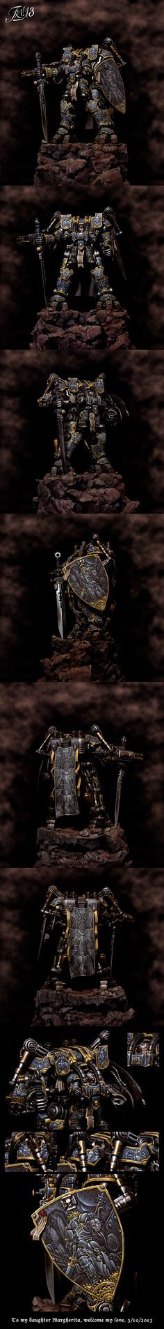 CoolMiniOrNot - The gothic dreadknight - Gold Vehicle GD italy 2013 by franciuus