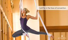 """""""I will fly in the face of convention."""" Click the image and share your intentions until January 28, 2013, for a chance to win an Athleta GiftCard."""