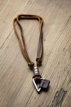 3596face783e Leather Necklace    Mens Necklace    Boho Necklace by HagarTalmor Colgante  Hombre