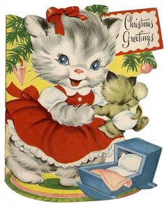 cat Christmas Greetings