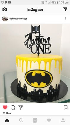 Batman cake by cakesbychrissyt