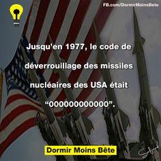 """Jusqu'en 1977, le code de déverrouillage des missiles nucléaires des USA était """" 000000000000"""""""