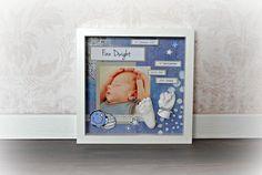 3D Abdrücke eines 8 Wochen alten Babys, dekoriert in einem schönen Rahmen. www.unikati.ch